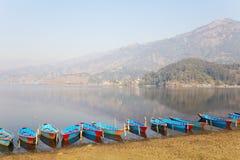 jeziorny Nepal phewa pokhara Zdjęcia Royalty Free