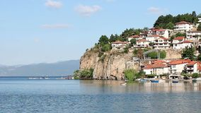 Jeziorny Ohrid i miasto zbiory