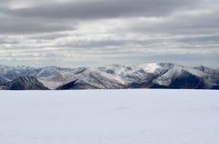 Jeziorny okręg w zimie Fotografia Royalty Free