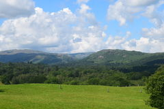 Jeziorny okręgu krajobraz Zdjęcia Royalty Free