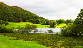 Jeziorny okręgu krajobraz Obraz Royalty Free