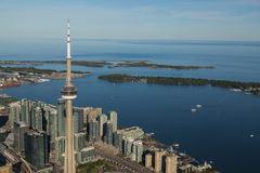Jeziorny Ontario od Toronto Obrazy Stock