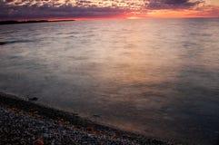 Jeziorny Ontario wschód słońca Obraz Stock