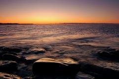 Jeziorny Ontario wschód słońca Obrazy Royalty Free