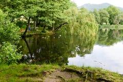Jeziorny Origlio blisko Lugano Obrazy Royalty Free