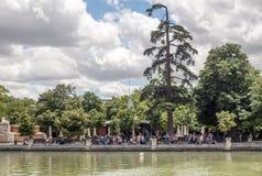 Jeziorny Parque Del Retiro w Madrid Obraz Stock