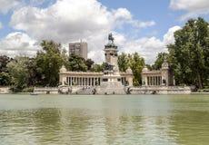 Jeziorny Parque Del Retiro w Madrid Zdjęcie Royalty Free