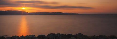 Jeziorny Pepina wschód słońca Obrazy Stock
