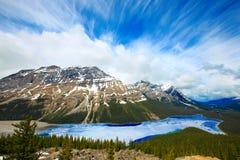 jeziorny peyto fotografia stock