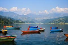 jeziorny phewa Zdjęcie Royalty Free