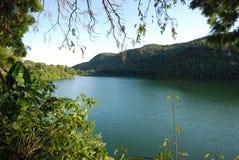 jeziorny pokhara s Obraz Royalty Free