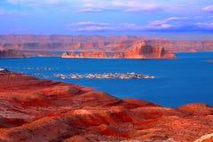 Jeziorny Powell przy zmierzchem Zdjęcie Royalty Free