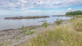 Jeziorny przełożony blisko Miedzianego schronienia, MI Fotografia Royalty Free