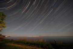 Jeziorny przełożony gwiazdy ślad Fotografia Royalty Free