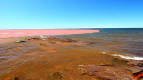 Jeziorny przełożony Po ulewy zbiory wideo
