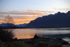 Jeziorny Quinault, Waszyngton Fotografia Stock