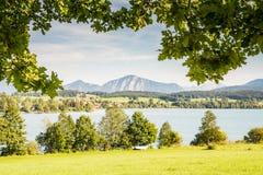 Jeziorny Riegsee w Bavaria Zdjęcie Stock