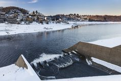 Jeziorny Rursee Przy Rurberg, Niemcy Zdjęcie Stock