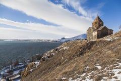 jeziorny sevan sevanavank Zima obraz royalty free