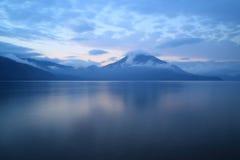Jeziorny Shikotsu obraz royalty free