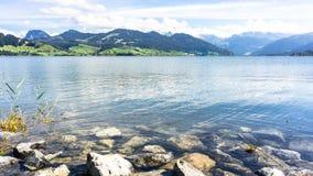 Jeziorny Sihl, Szwajcaria - Zdjęcie Royalty Free