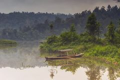 Jeziorny Sito Gunung przy Sukabumi Fotografia Royalty Free