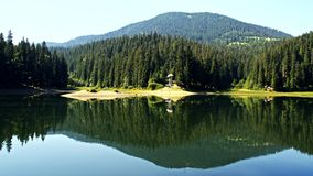 Jeziorny Synevir w Karpackich górach w Ukraina Zdjęcie Royalty Free