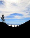 Jeziorny Tahoe Silhoutte Zdjęcia Stock