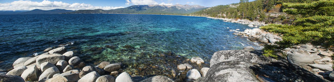 Jeziorny Tahoe Skalisty brzeg obraz royalty free
