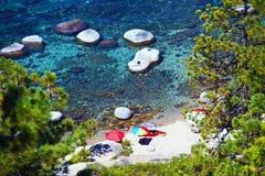 Jeziorny Tahoe wakacje miejsce przeznaczenia Obraz Stock