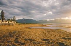 Jeziorny Tahoe zmierzch Obrazy Stock
