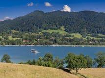 Jeziorny Tegernsee, Bavaria Zdjęcie Royalty Free
