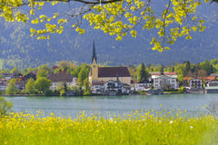 Jeziorny Tegernsee w Bavaria Zdjęcia Royalty Free