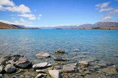 Jeziorny Tekapo Nowa Zelandia w lecie Zdjęcia Royalty Free