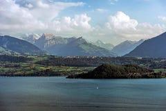 Jeziorny Thun w Szwajcaria Obraz Royalty Free