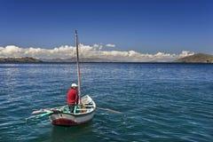 Jeziorny Titicaca Boliwia Ameryka Południowa - fotografia stock
