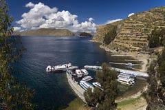 Jeziorny Titicaca Boliwia - Słońce Wyspa - Obrazy Stock