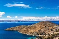 Jeziorny Titicaca krajobraz Obraz Stock