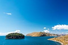 Jeziorny Titicaca krajobraz Fotografia Royalty Free