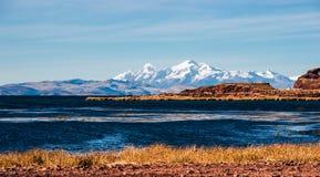 Jeziorny Titicaca od bolivian strony Fotografia Stock