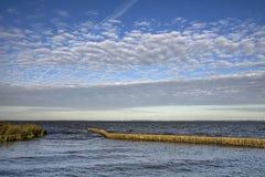 Jeziorny Tjeukemeer w Friesland Obraz Stock