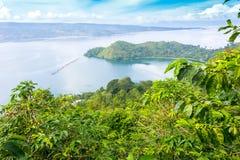 Jeziorny Toba, Indonesia Zdjęcie Royalty Free