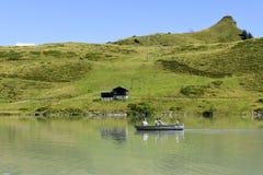 Jeziorny Truebsee nad Engelberg na Szwajcarskich alps Obrazy Royalty Free