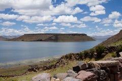 Jeziorny Umayo Silustani Peru obraz royalty free