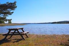 Jeziorny Vattern w Szwecja Zdjęcia Stock