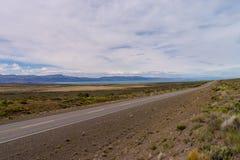 Niekończący się droga w Argentyna Patagonia Obraz Stock