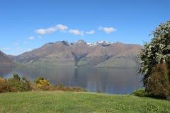 Jeziorny Wakatipu i Cecil szczyt, Otago, Nowa Zelandia Zdjęcie Royalty Free