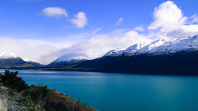 Jeziorny Wakatipu i góry fotografia royalty free
