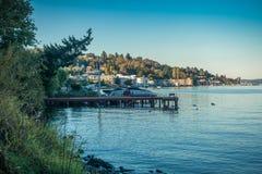 Jeziorny Waszyngton - linia brzegowa Zdjęcia Stock