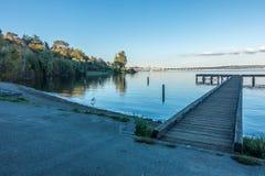 Jeziorny Waszyngton - molo Obraz Stock